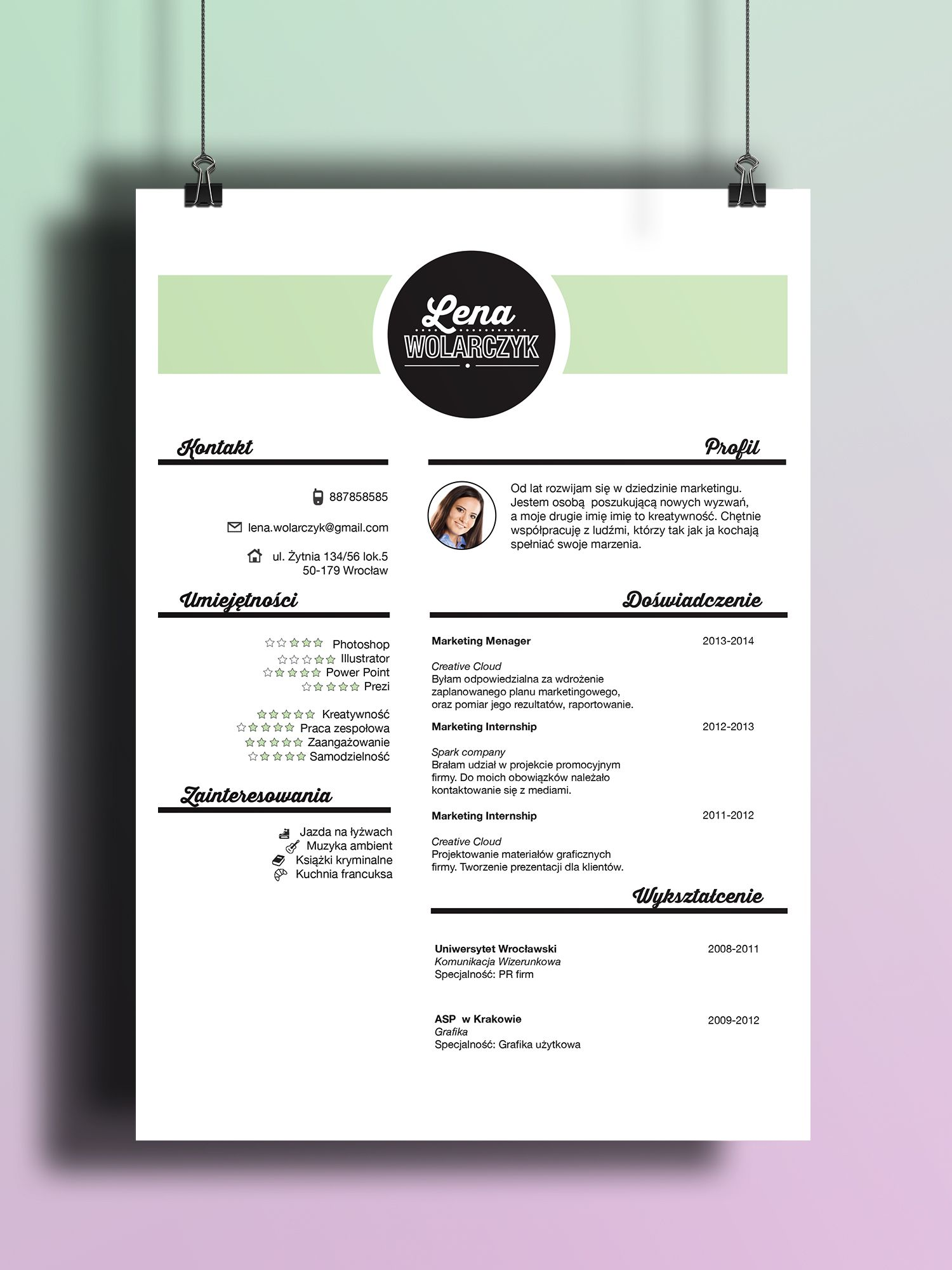 beuatiful resume design be creative find us on etsy