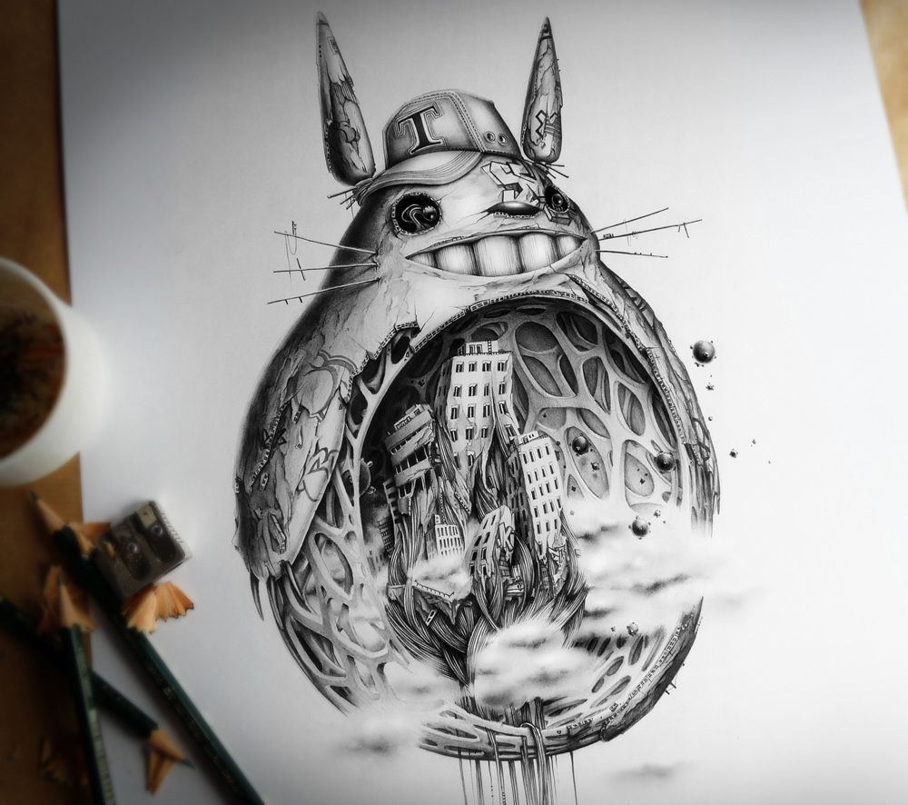 Distroy series king size version pez artwork cool pencil drawings really cool