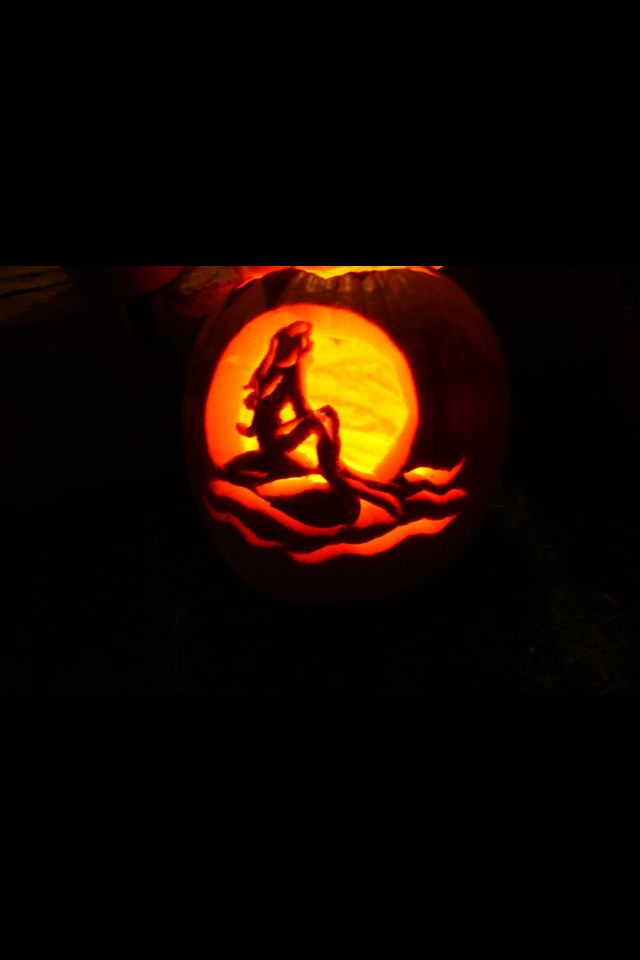 My Little Mermaid Pumpkin I Love Disney And Pumpkin Carving Yay