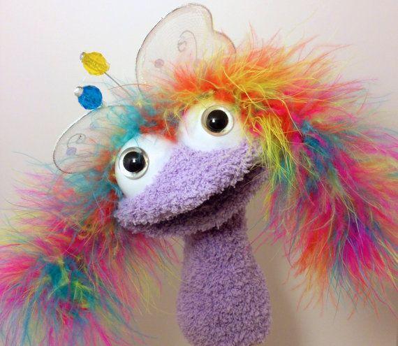 Sock/Hand Puppet- Lavender Fairy #handpuppets