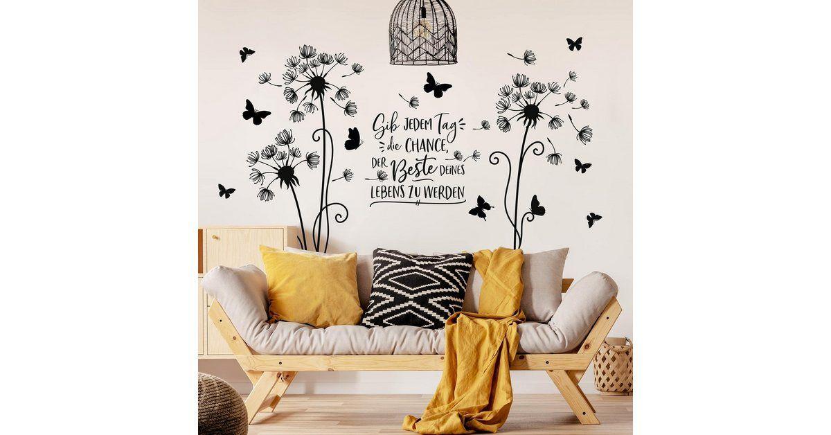 Wandtattoo »Pusteblume – Der beste Tag deines Lebens«
