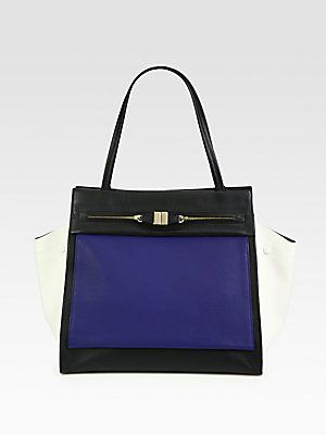 Furla Exclusively for Saks Fifth Avenue Equestre Colorblock Shopper