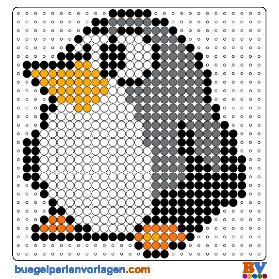 Pinguin b gelperlen vorlage kinder b gel b gelperlen und h keln - Pinguin basteln vorlage ...