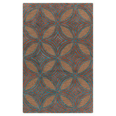 Anchor your living room seating group or define space in the den with this handcrafted New Zealand wool rug, showcasing a geometric motif for eye-catching ap...