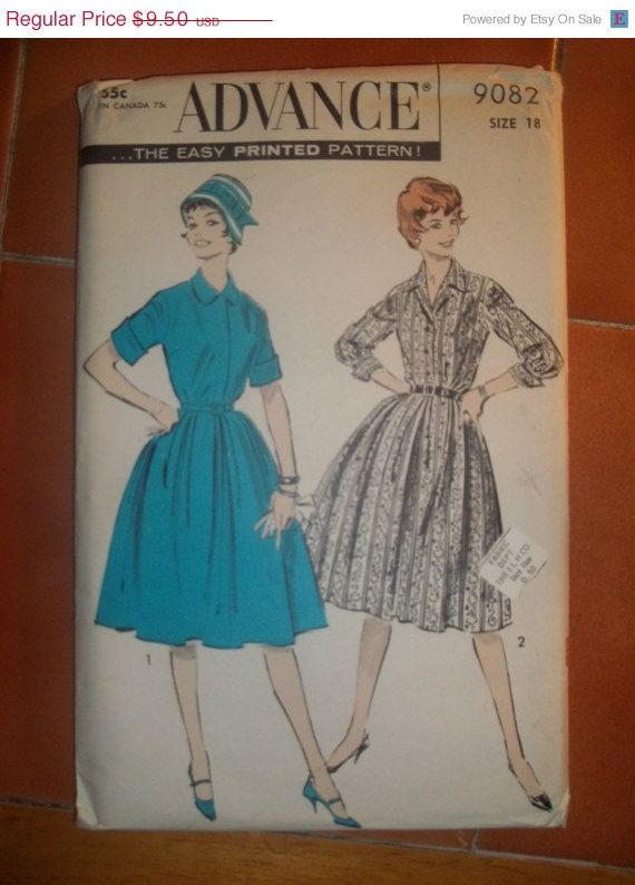 Sale 1950s Advance Sewing Pattern 9082 Excellent By Earthtomarrs