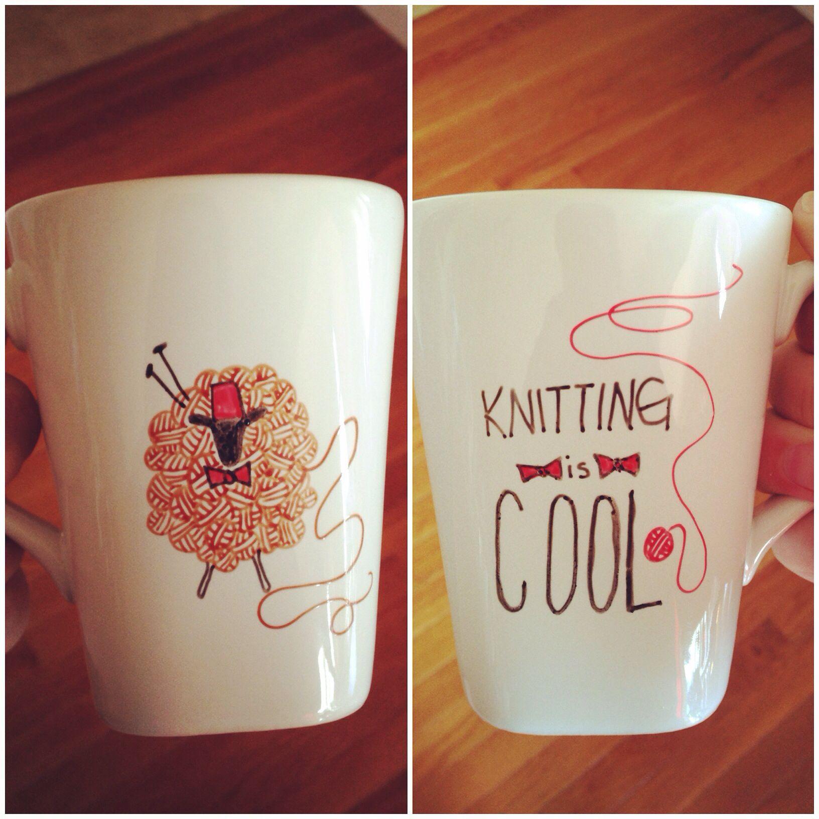 Knitting is Cool mug   #doctorwho #sheep #knitting