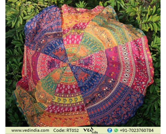 Multicolor Ethnic Indian Round Mandala Beach Throw Tapestry Roundie Hippie  Table Cloth Beach Towel Yoga Mat