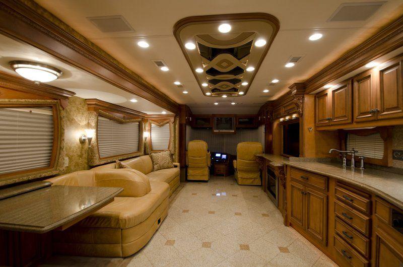 Inside Luxury Tour Bus tour bus and rv interi...