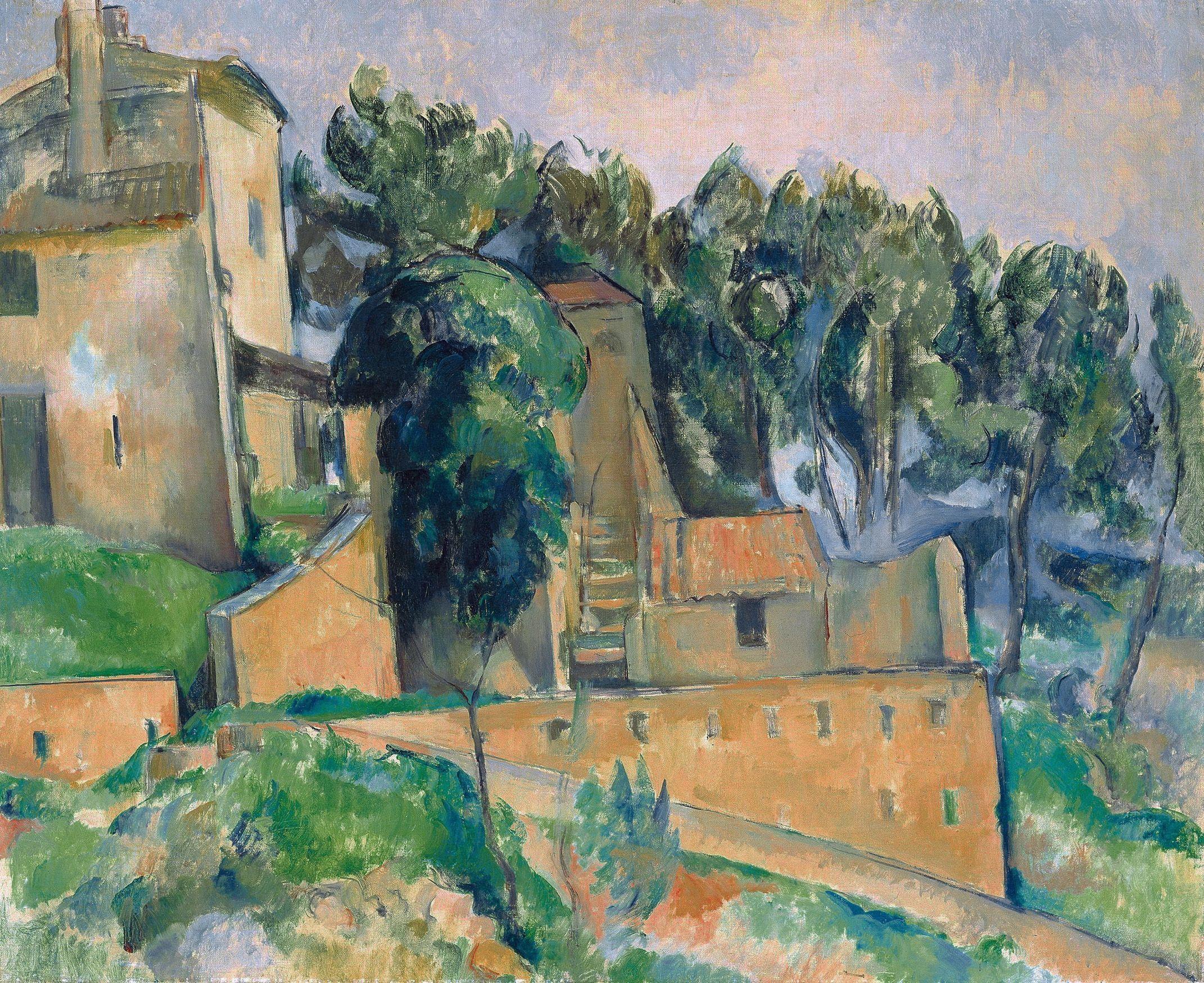 Paul Cézanne - La Maison de Bellevue (vers 1890) | Cezanne | Pinterest