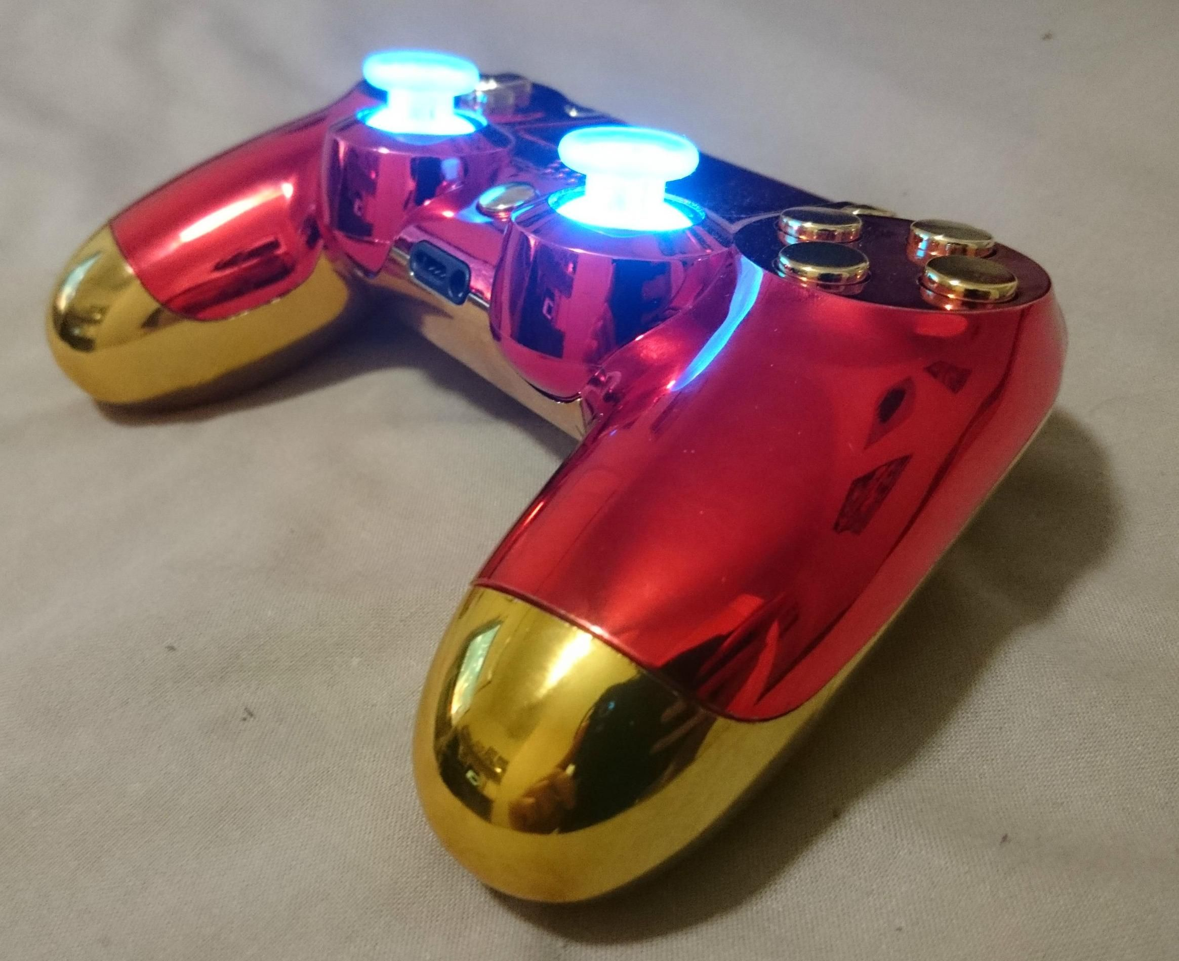Iron Man Ps4 Controller Challenges Tony Starks Knack For Innovation Mouse Game Wireless Diy Ironman Modding