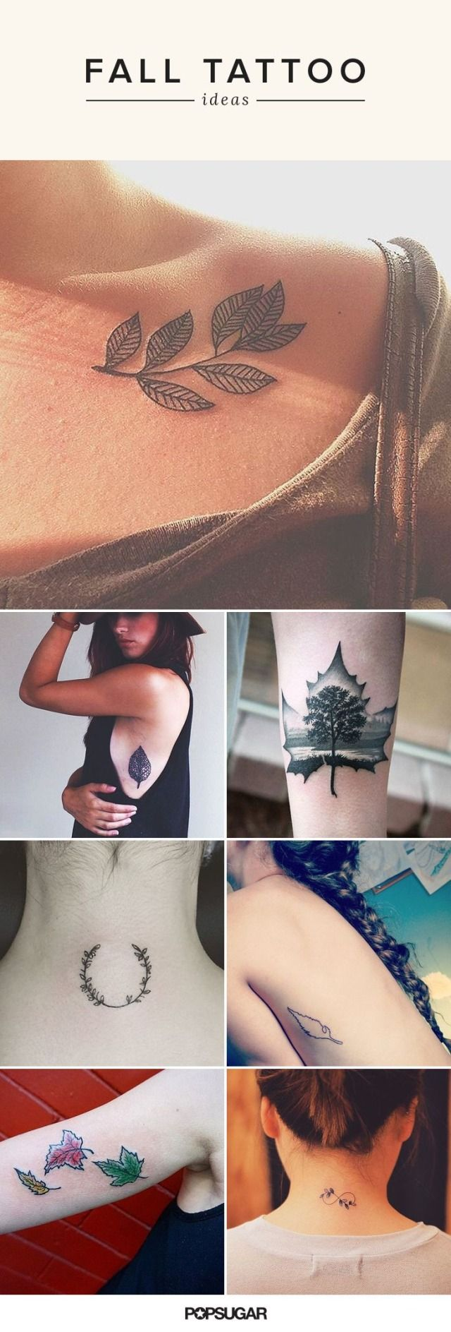 Fall is in full force, and we're going to let you in on a little secret: we don't hate it. We get to unpack our oversize sweaters, put butternut squash in everything, and (of course!) drink pumpkin spice lattes. Judging by these autumnal tattoos, we're not the only ones who adore it.