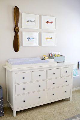 Hemnes Ikea Dresser With Pbk Changing Topper Bright Nursery