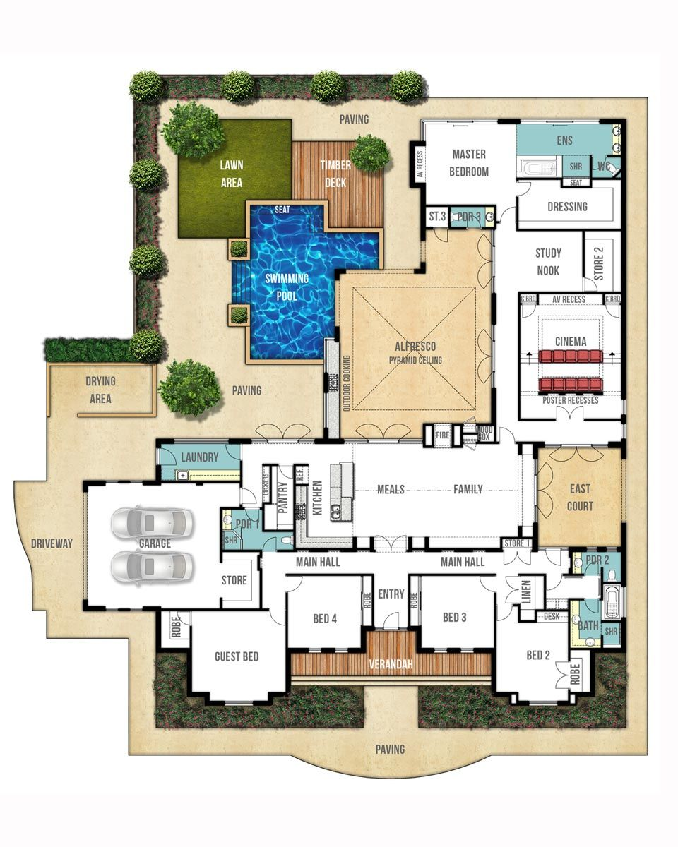 Country floor plan the farmhouse by boyd design perth bed n