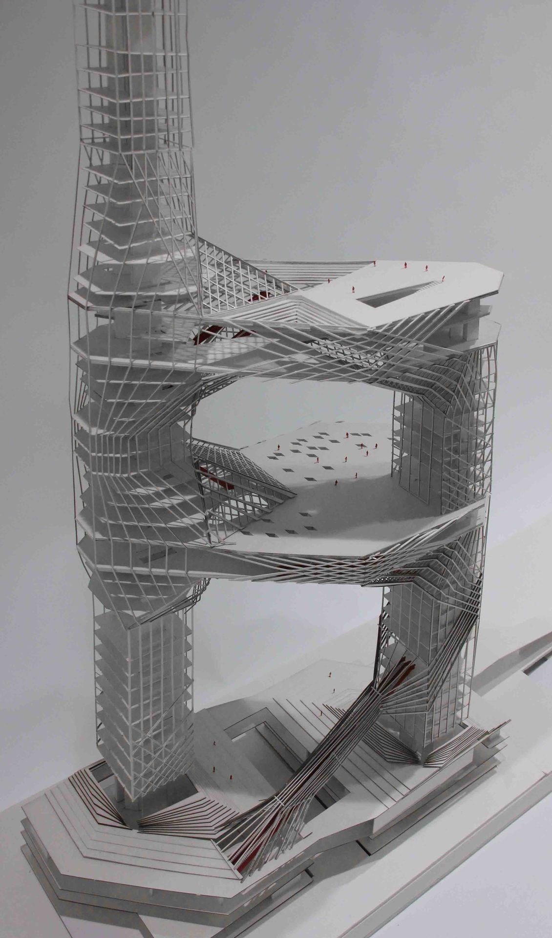 ARCHITECTURAL MODELS Skyscraper architecture, Futuristic