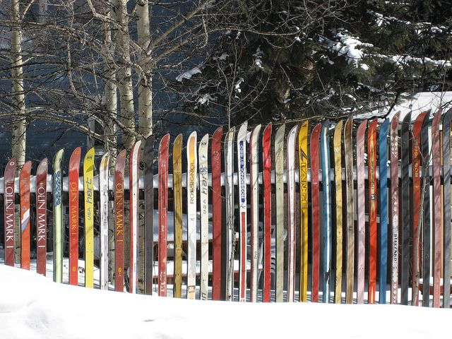 Ski Fence In Leadville Co Leadville Ski Chalet Decor Ski Decor