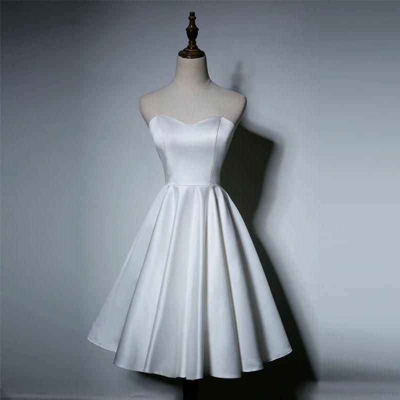 Elegant Lace Up Soft Matte Satin Princess Wedding Dress   Matte ...