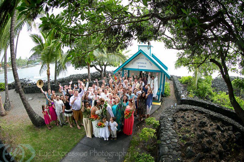 Ben And Christine Big Island Wedding At St Peters And Kona Sheraton Eye Expression Kona Hi Big Island Wedding Hawaii Wedding Big Island