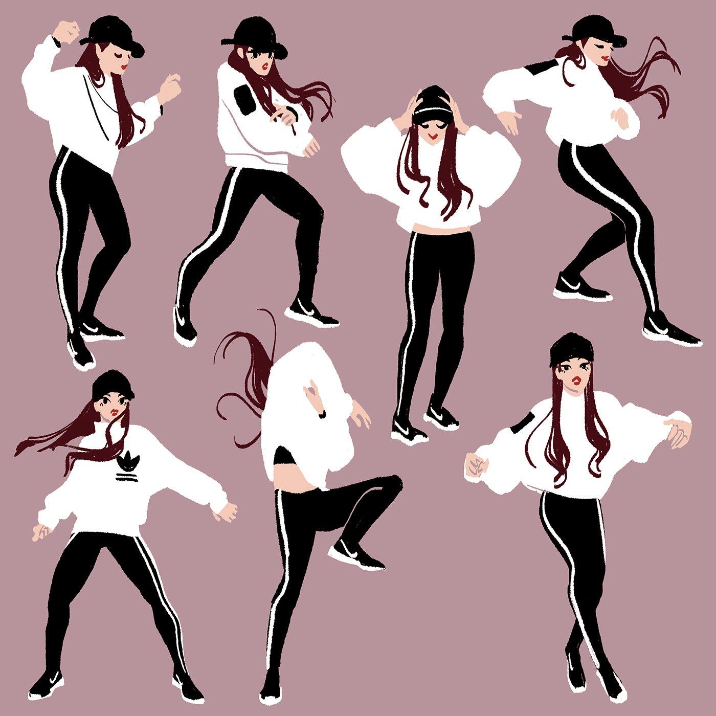 Танцы простые картинки