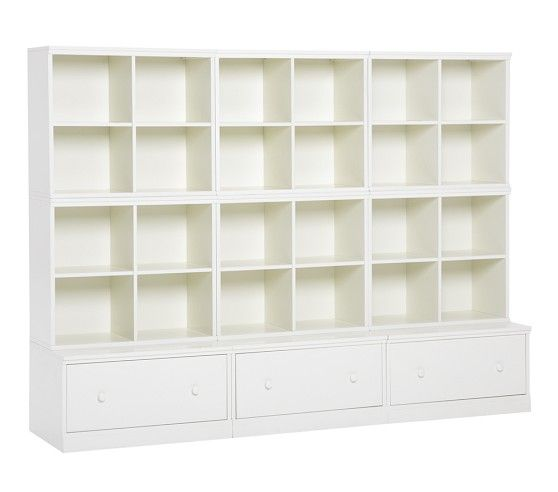 Cameron 6 Cubby Amp 3 Drawer Base Storage System Cubbies