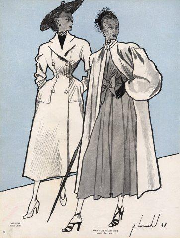 Bruyère & Marcelle Chaumont 1948 Louchel