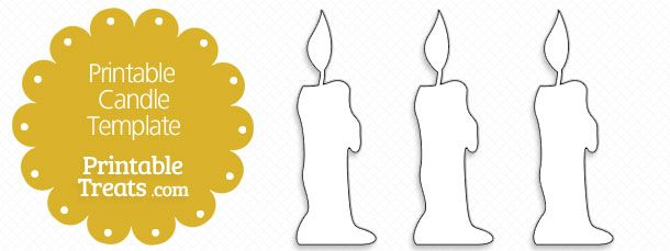 image regarding Printable Candles called No cost Printable Candle Template downloads Templates