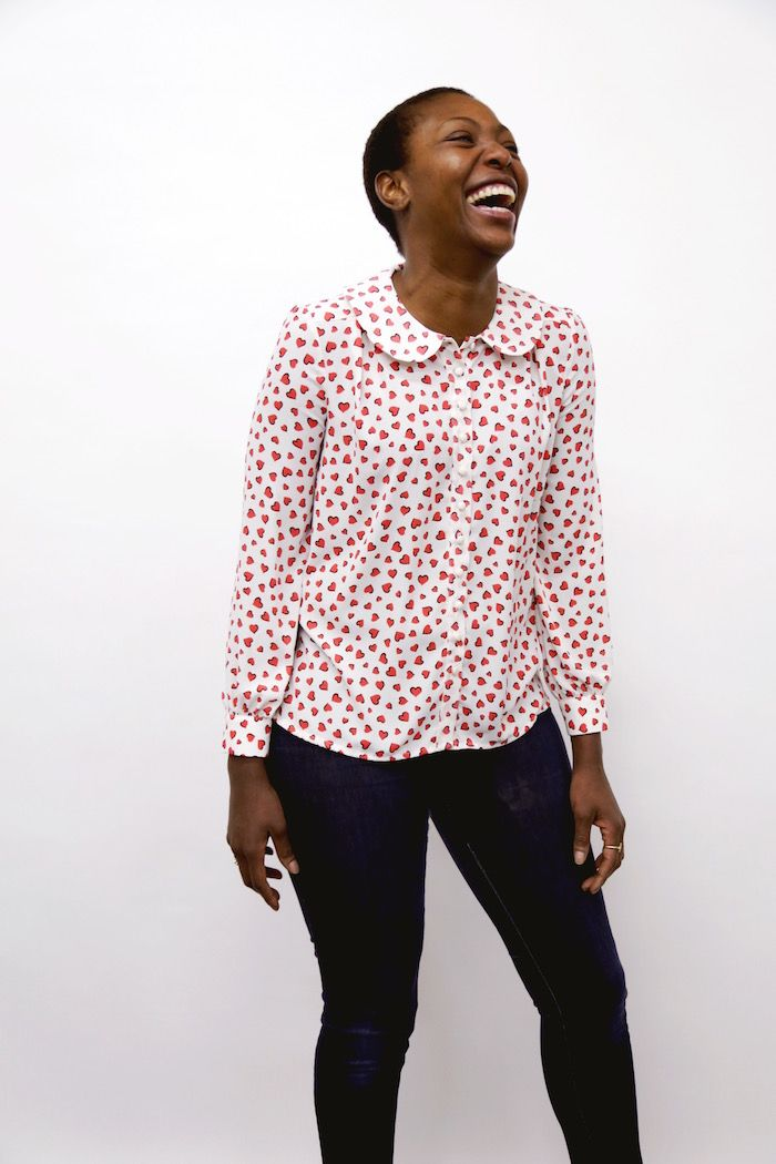 New pattern alert! Please welcome, the Sarah Shirt! – By Hand London