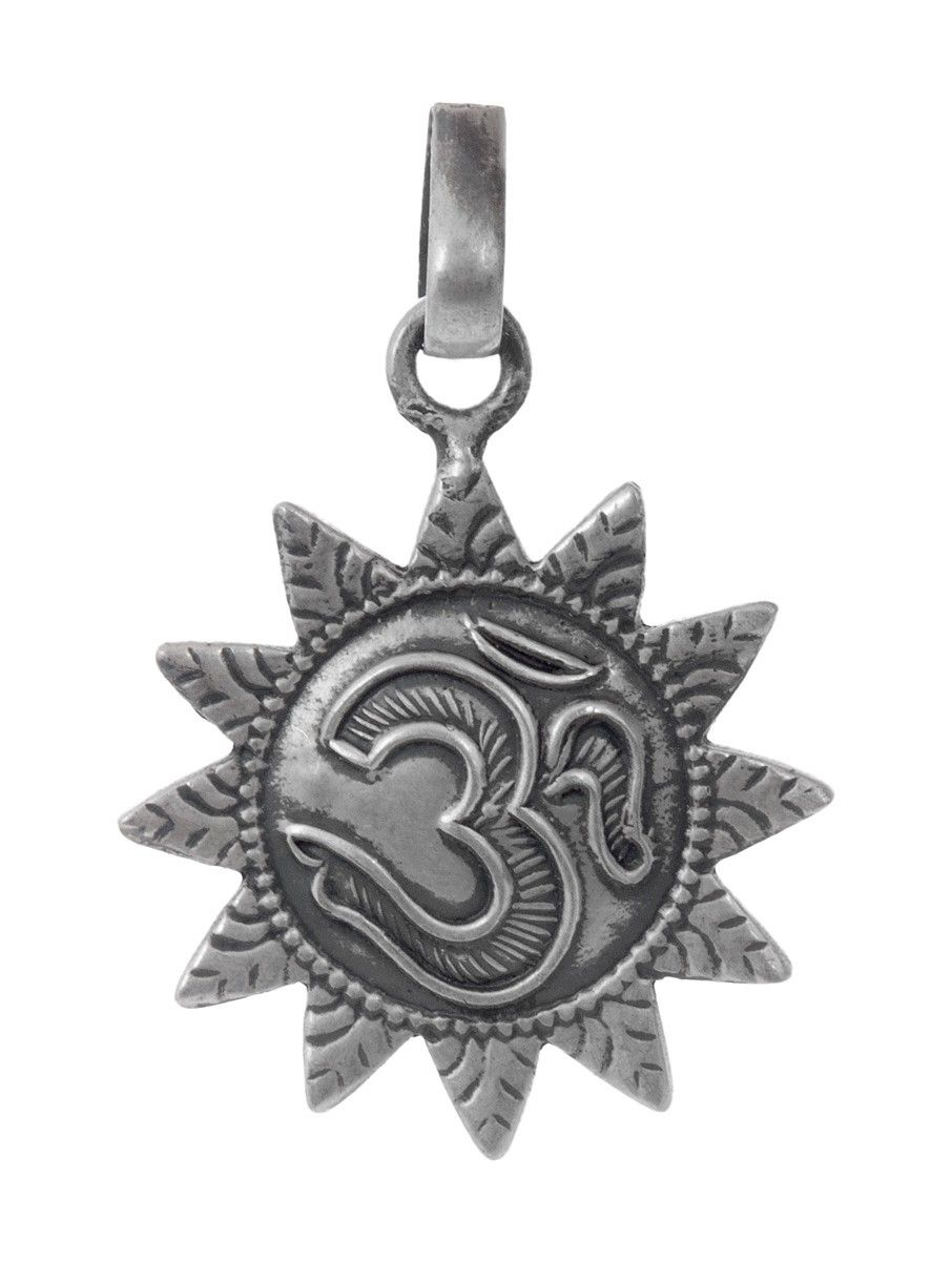 Buy om silver pendant by jewels india online om pendant om and buy om silver pendant by jewels india online at jaypore aloadofball Images