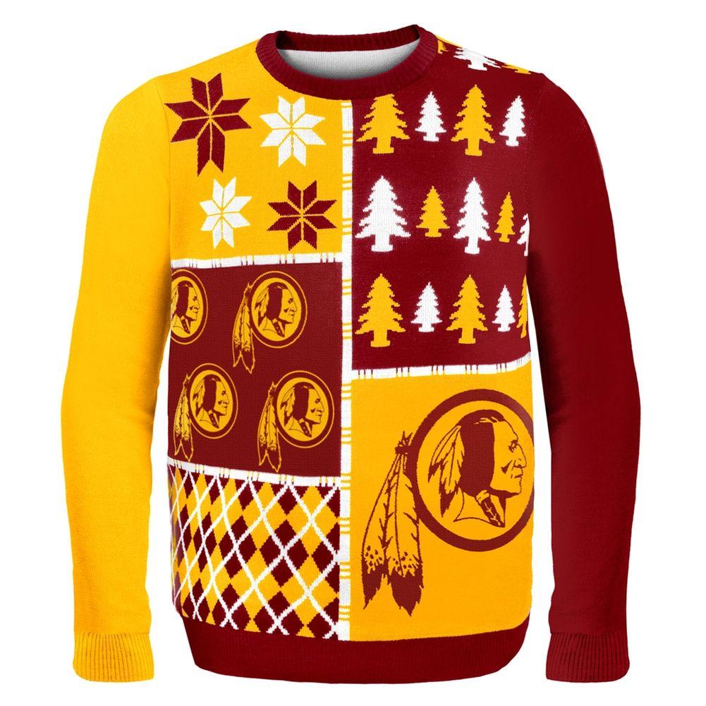 Washington Redskins - Busy Block Ugly Sweater | OldGlory.com ...
