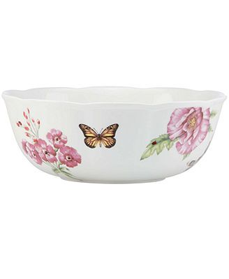 Lenox Dinnerware Butterfly Meadow Bloom Serving Bowl