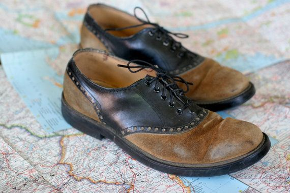 Mens Vintage Two Tone Saddle Shoes By Dingaling On Etsy
