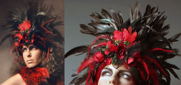 Headpiece 'Belleza'    photo: Sander Steins  mua: Sacha Koninckx  model: Diana