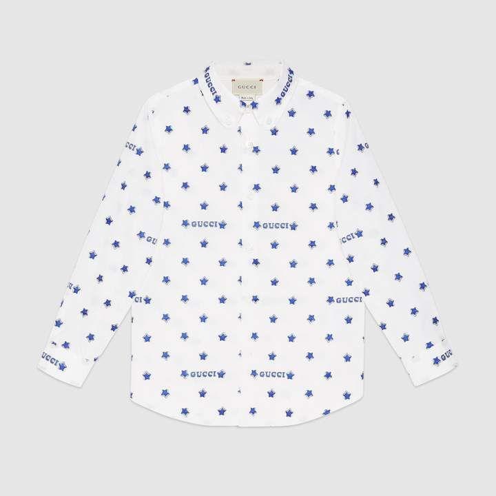 6c00e9cfa55d Gucci Children's star fil coupé shirt | Products | Gucci, Shirts ...