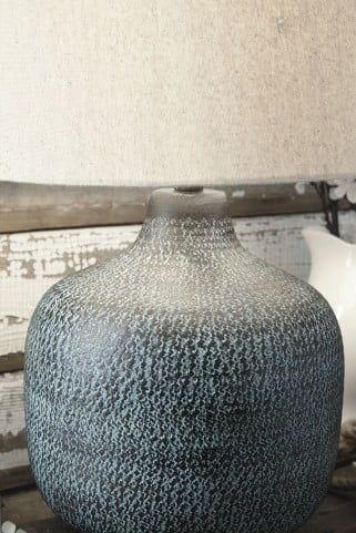 Malthace Patina Metal Table Lamp from Ashley   Coleman Furniture