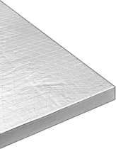 Mcmaster Carr High Temperature Rigid Fiberglass Insulation Sheet With Silver Foil Facing 6 Lbs Cu Ft Fiberglass Insulation Insulation Sheets Fiberglass