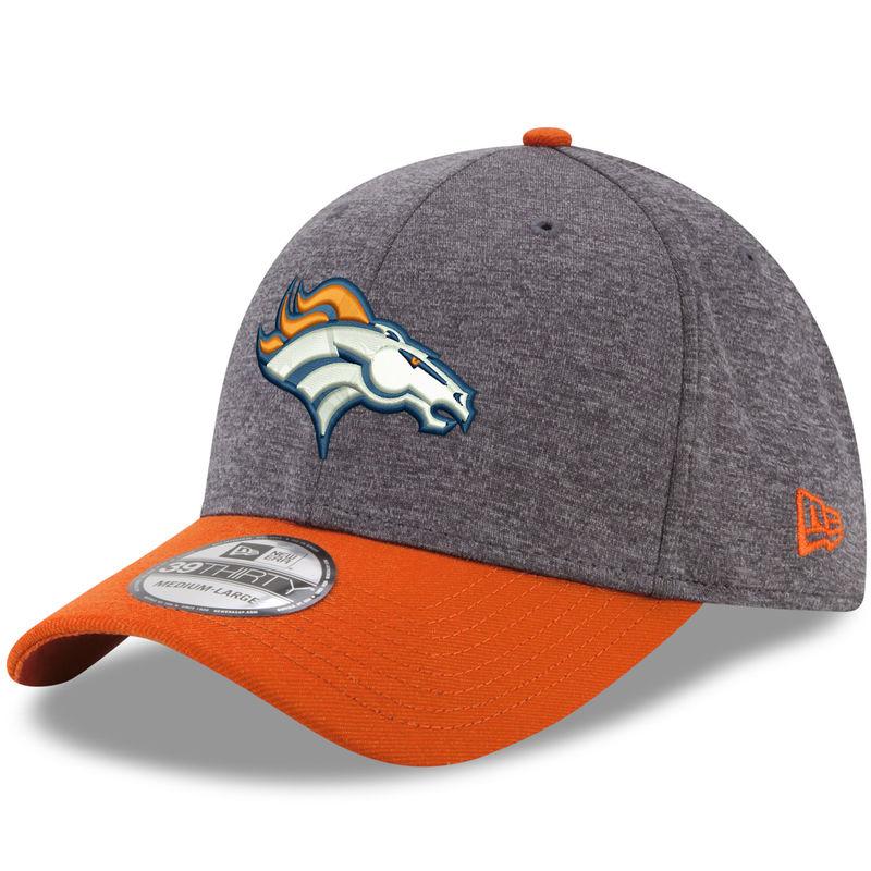 Denver Broncos New Era Shadow Tech 39THIRTY Flex Hat - Heathered Gray Orange d95eb449dda6