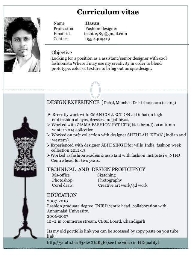 creative fashion cv