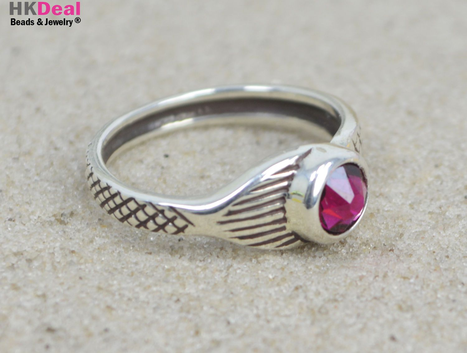 9fa87d9ad15c75 H2O Just Add Water Mako Mermaid Tail Moon Ring Sterling Crystal Ruby ...