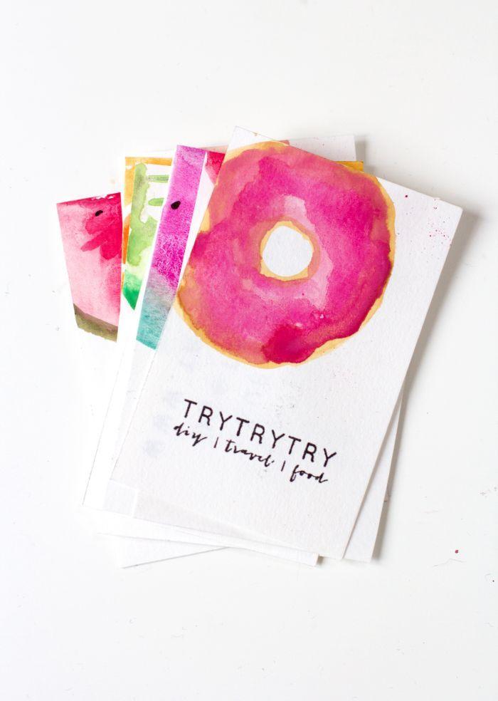 Visitenkarten Selbermachen Donut Detail Visitenkarten