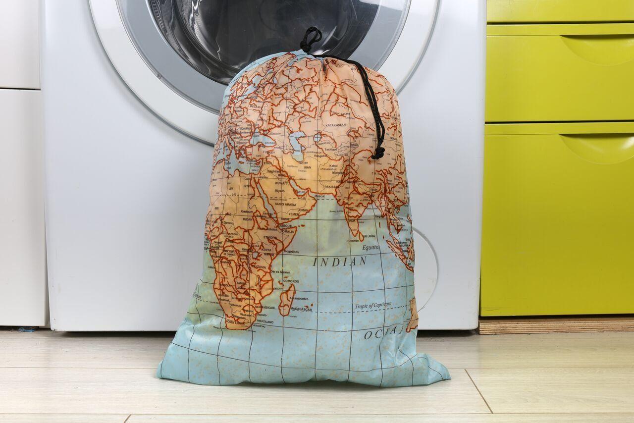 Kikkerland travel size laundry bag world map bag cool laundry kikkerland travel size laundry bag world map bag cool gumiabroncs Choice Image
