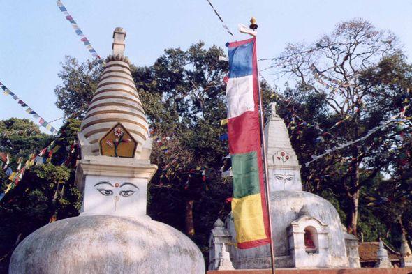 Nepal - Kathmandu, stupa Svayambhunath
