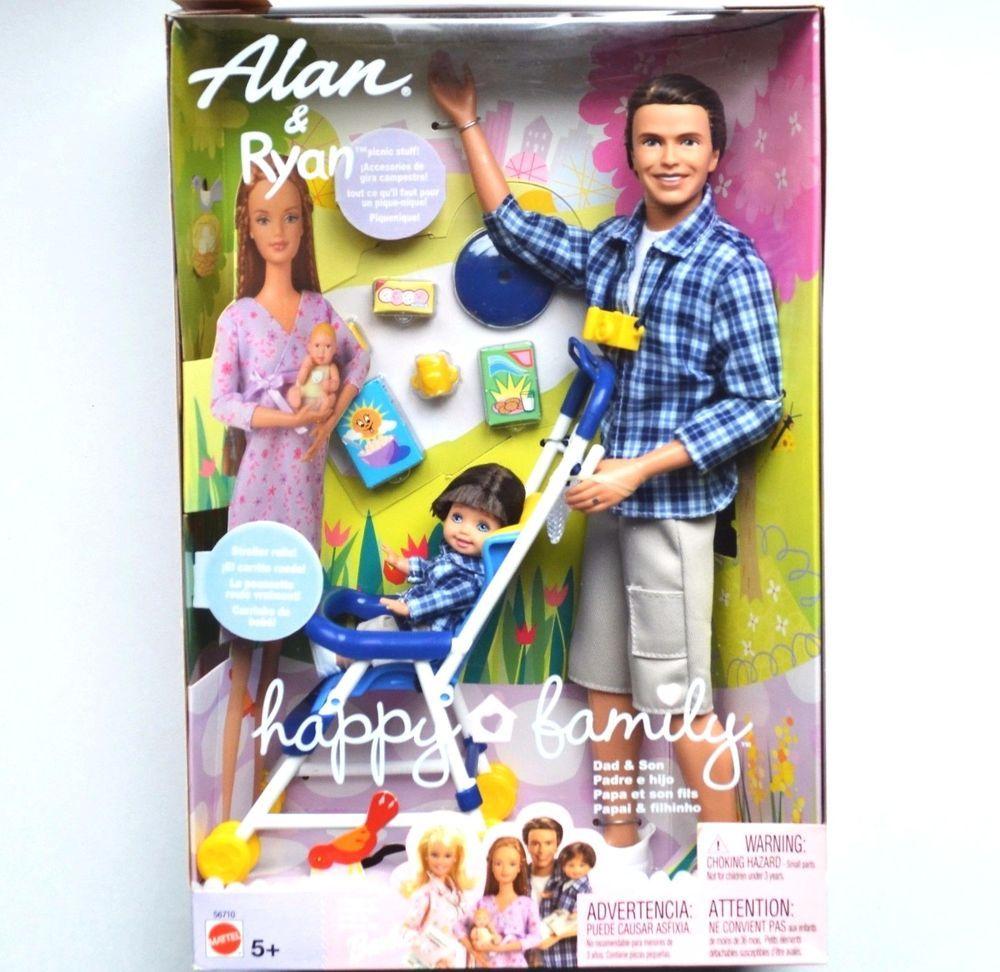 Details about 2002 Mattel Happy Family Barbie Midge