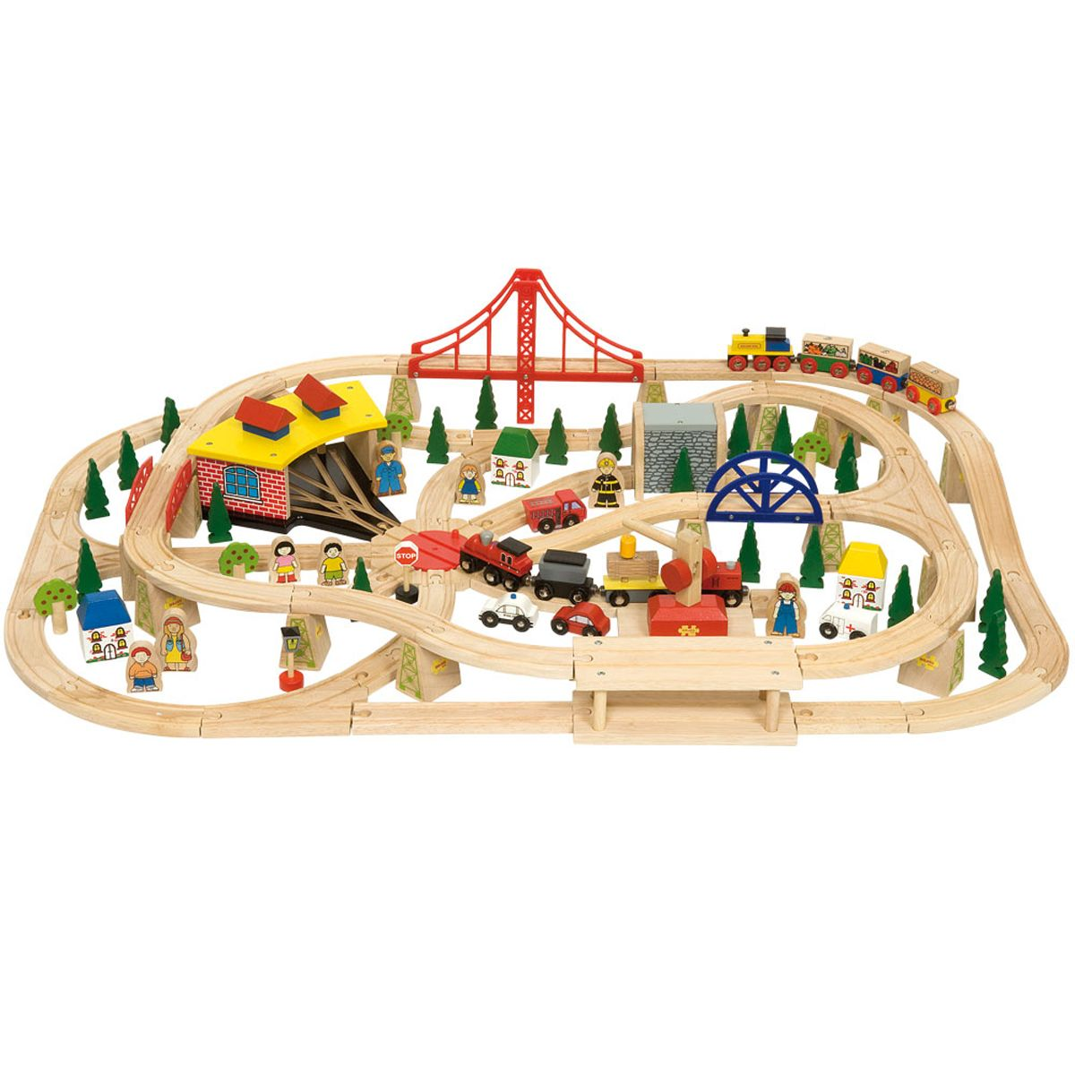 This Superb Freight Train Set Contains 130 Pieces So