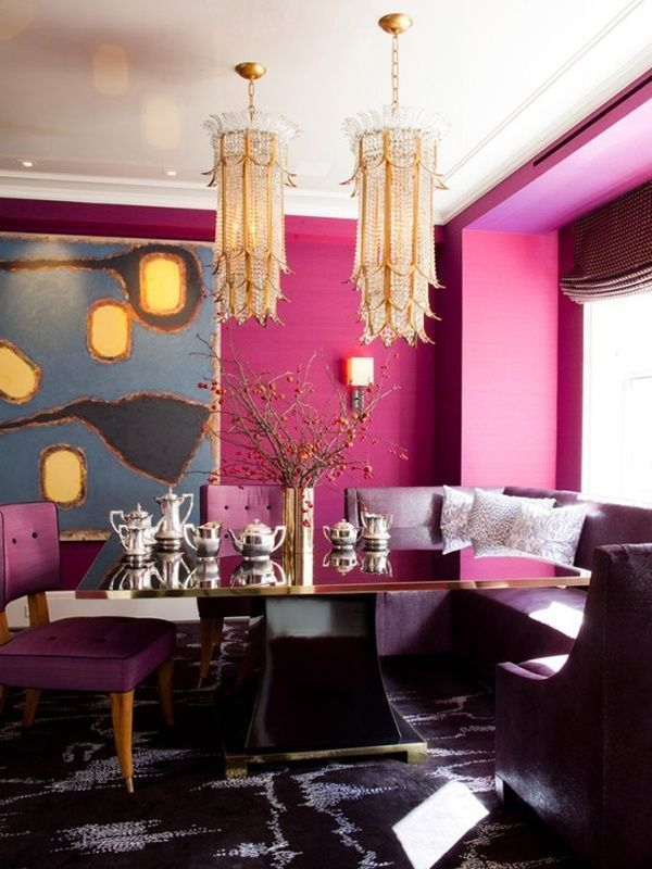 Radiant Orchid dramatic as a whole-design | Living room | Pinterest ...