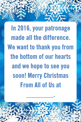 business thank you messages examples for christmas professional thank you messages for customers and clients from paperdirect