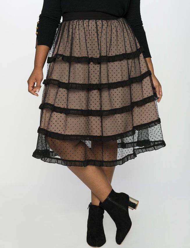 4f8748bc4ca Sheer Ruffle Tulle Skirt from eloquii.com