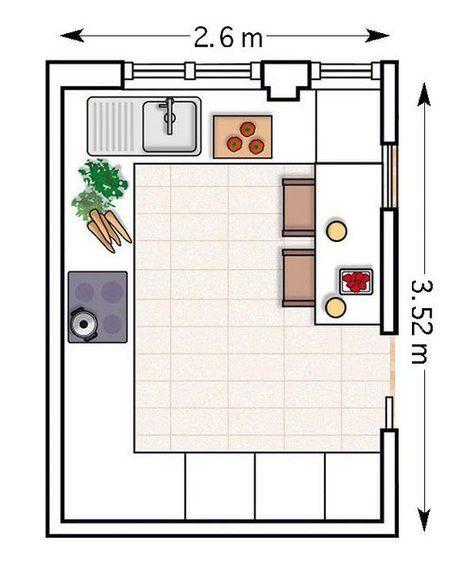 doce cocinas con barra y sus planos planos de cocinas