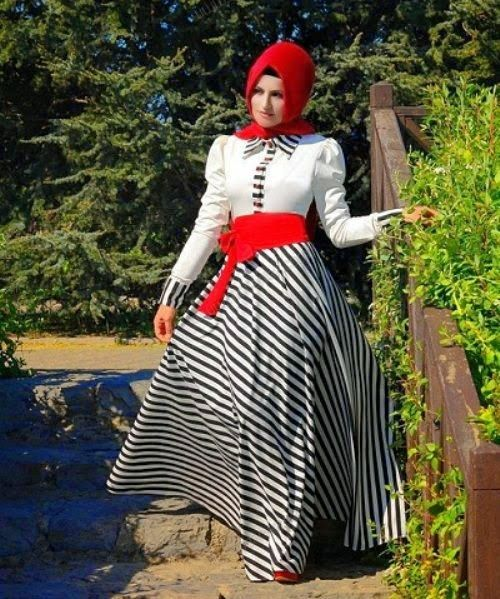 Long dresses muslimah remaja sekarang