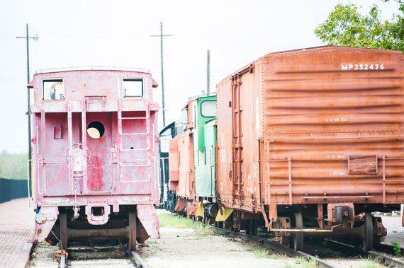 Colorful Train Wall Art Train Wall Art Train by NicolettePhotos