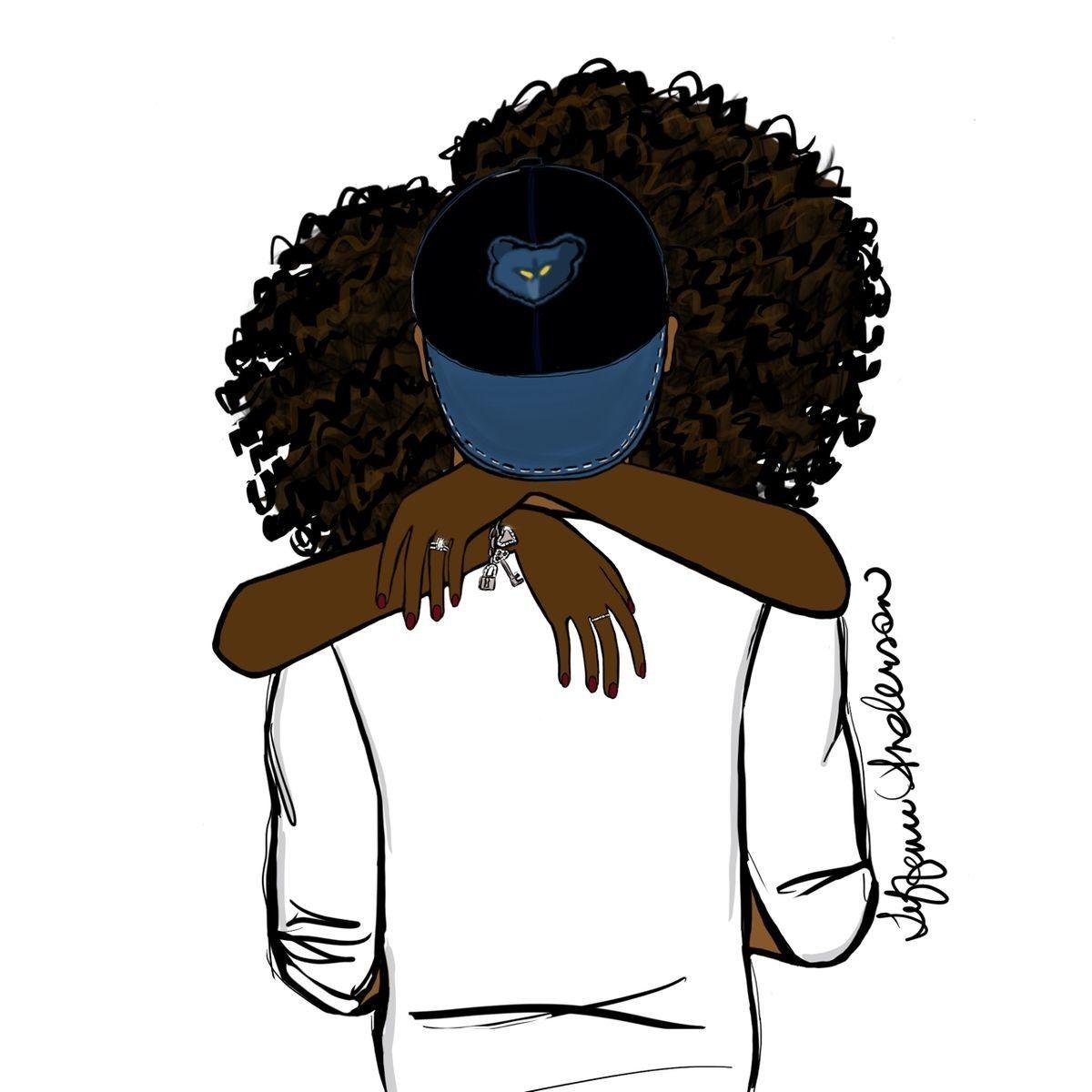Pin by Farida on COUPLES illustrations   Black love art ...