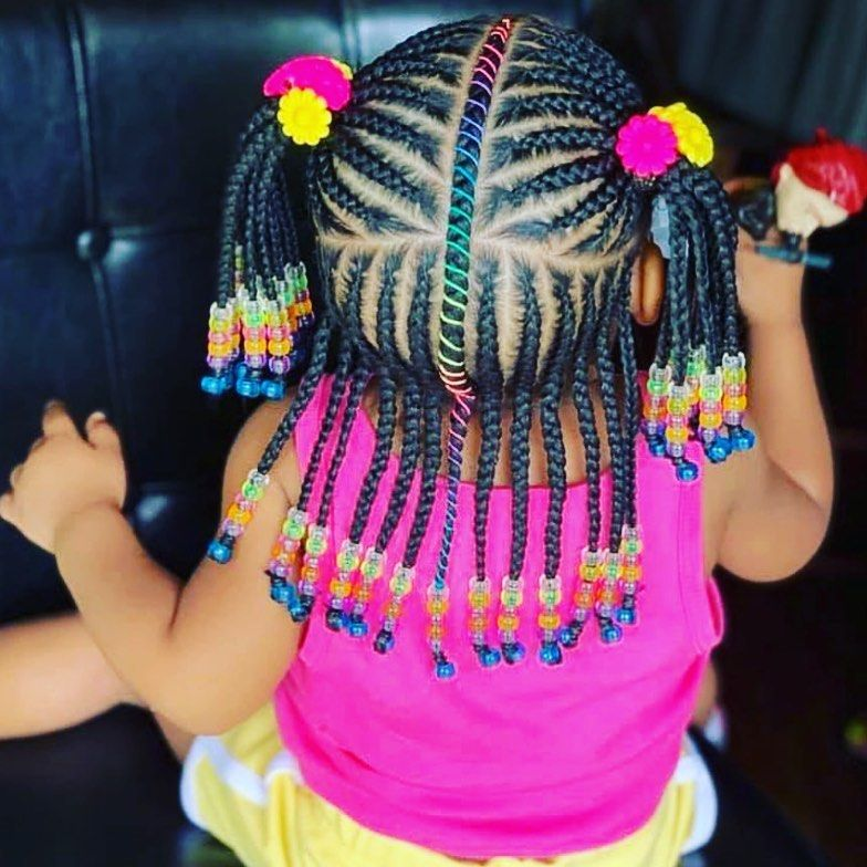 Beautiful Braids Styles On Instagram I M In Love Unicornbraids Braids Kidsstyles Moister Braids For Kids Little Girl Hairstyles Little Girl Braids